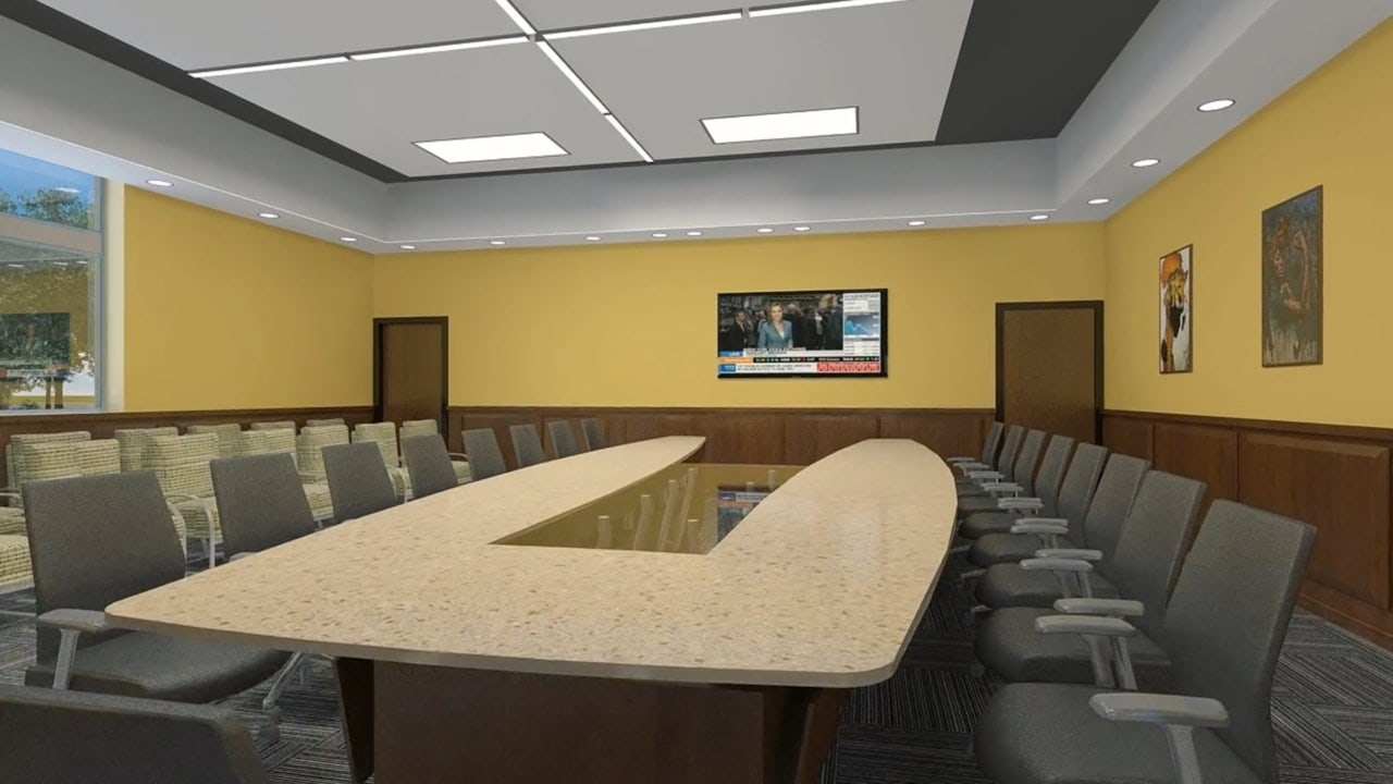 The UAPB AM&N National Alumni Center - 860 square foot boardroom with SOTA multimedia and videoconferencing